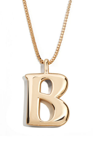 BaubleBar Angela Initial Pendant Necklace