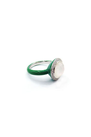 Ippolita Lollipop Carnevale Ring in Sterling Silver with Mother-of-Pearl Doublets and Ceramic, Size 7