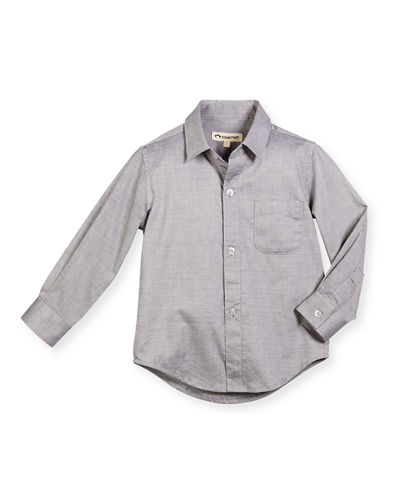 Solid Button-Down Shirt, 2T-14