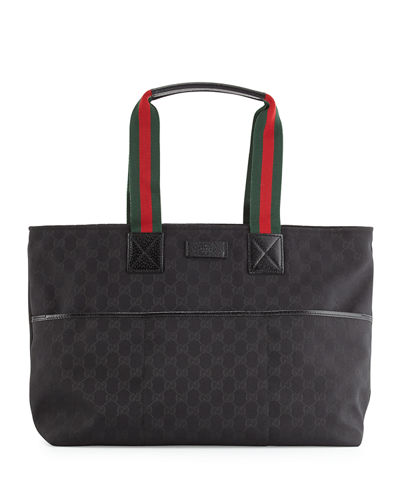 gucci travel diaper bag tote w changing pad. Black Bedroom Furniture Sets. Home Design Ideas