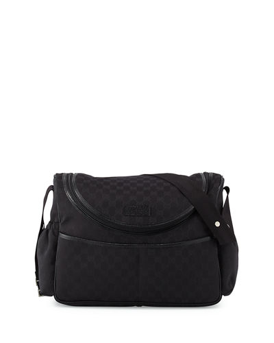 gucci travel gg canvas diaper bag w changing pad. Black Bedroom Furniture Sets. Home Design Ideas