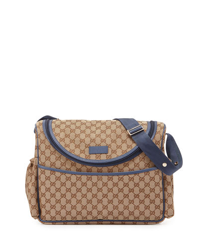 Gucci Travel Guccissima-Print Diaper Bag w/ Changing Pad