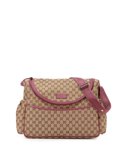 gucci travel guccissima print diaper bag w changing pad. Black Bedroom Furniture Sets. Home Design Ideas