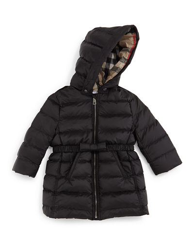 Burberry Catherine Quilted Down Coat, Size 3M-3Y