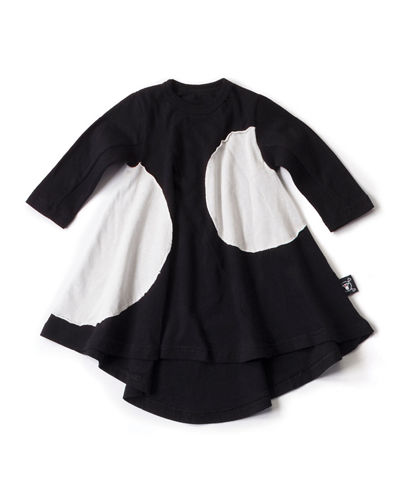 Long-Sleeve Colorblock Circle Dress, Size 18M-5