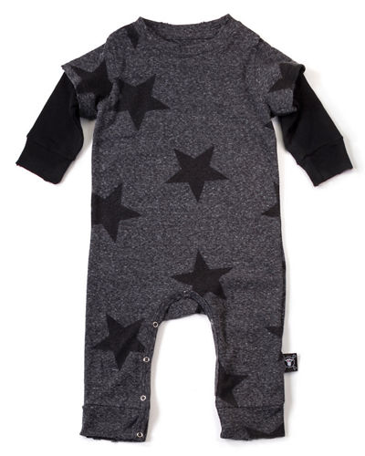 Star-Print Jersey-Knit Coverall, Size 6-24 Months