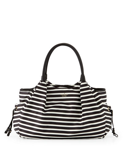 kate spade new yorkstevie leather-trim nylon baby bag