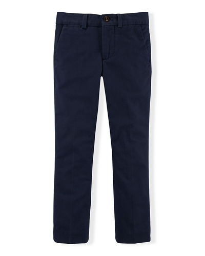 Ralph Lauren Childrenswear Stretch Slim-Fit Chino Pants, Size