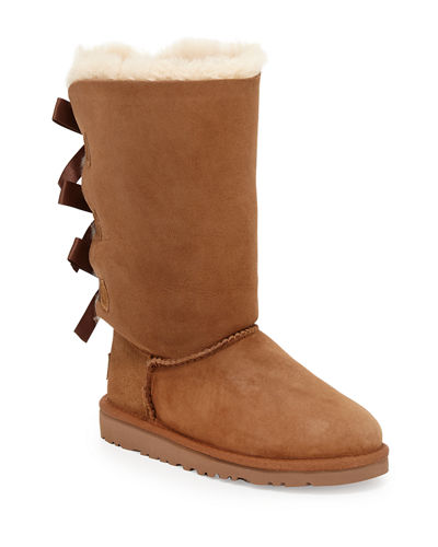 UGG Bailey Tall Monogram Boot with Bow, Youth