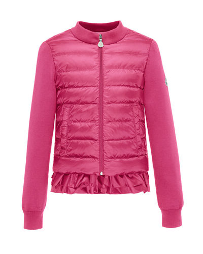 Maglia Fleece Zip Cardigan w/Down Front & Ruffle Bottom, Size 4-6