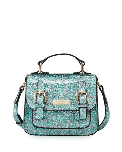 kate spade new york scout girls' glittered crossbody
