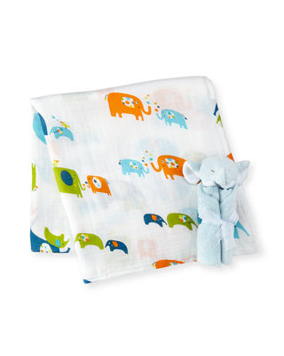 Take Me Home Elephant Swaddle Set