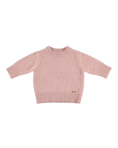 Eyelash-Knit Pullover Sweater, Size 3-6