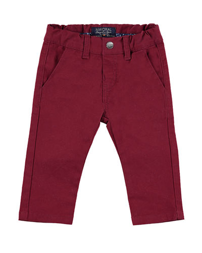 Basic Stretch Twill Pants, Size 3-24 Months