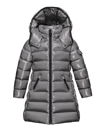 Moka Hooded Puffer Coat, Navy, Size 4-6