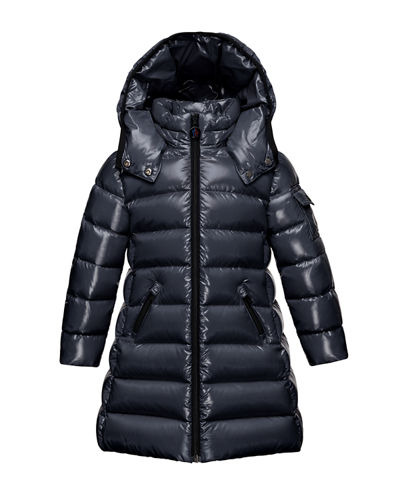 Moka Hooded Puffer Coat, Navy, Size 8-14