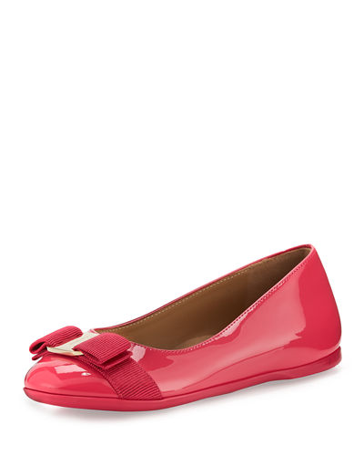 Varina Mini Patent Leather Ballet Flat, 10T-2Y