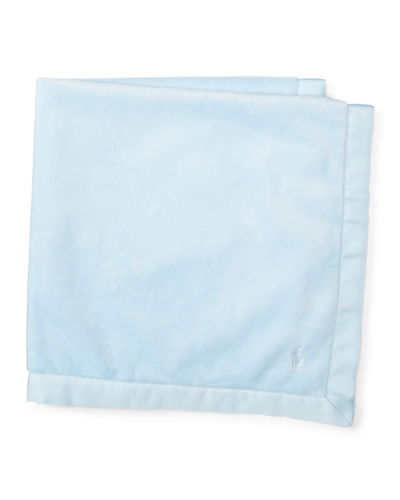 Plush Satin-Trim Baby Blanket