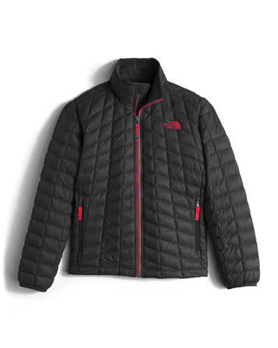 ThermoBall™ Full-Zip Puffer Jacket, Black/Red, Size XXS-XL