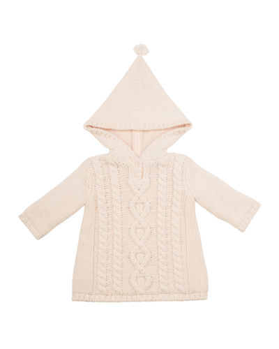 Hooded Cable-Knit Jacket, Size 3-18 Months