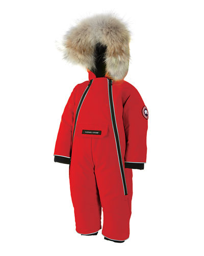 Lamb Snowsuit with Fur Trim, Size 6-24 Months