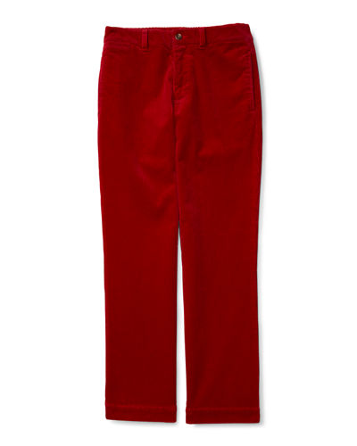Stretch Corduroy Straight-Leg Pants, Size 2-7