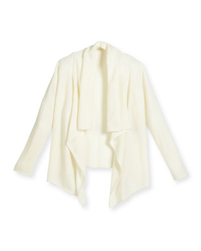 Draped Cashmere Cardigan, Girls' Size 4-14