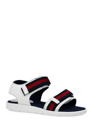 Gucci Leather Grip-Strap Sandals, Toddler/Kids