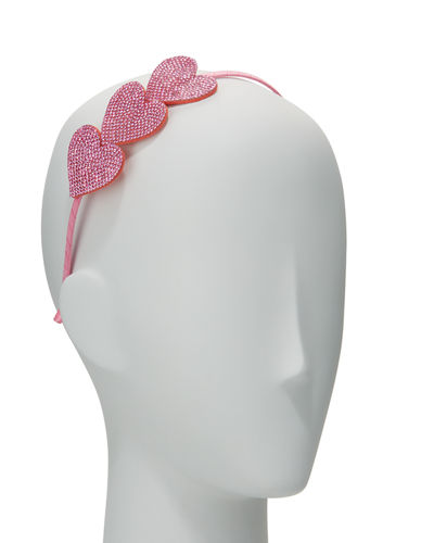Girls' Rhinestone Heart Headband