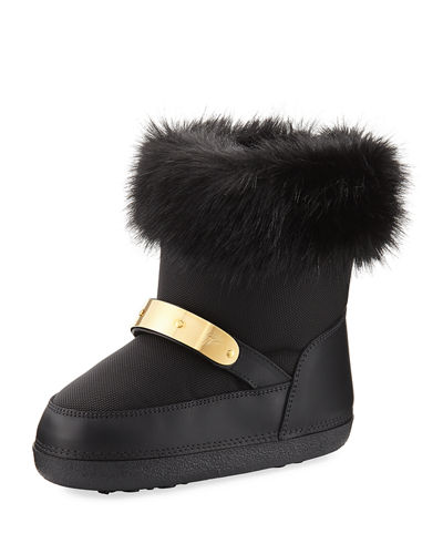 Kids' Snow Laceless Fur Boot, Youth