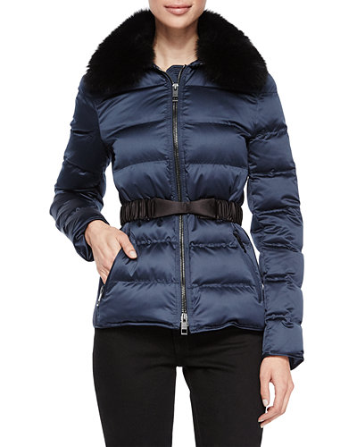 Burberry Brit Redbourn Satin Puffer Short Coat