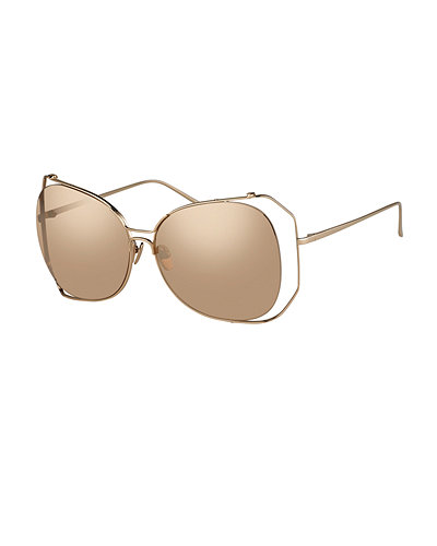 Linda Farrow Angled-Rim Butterfly Sunglasses