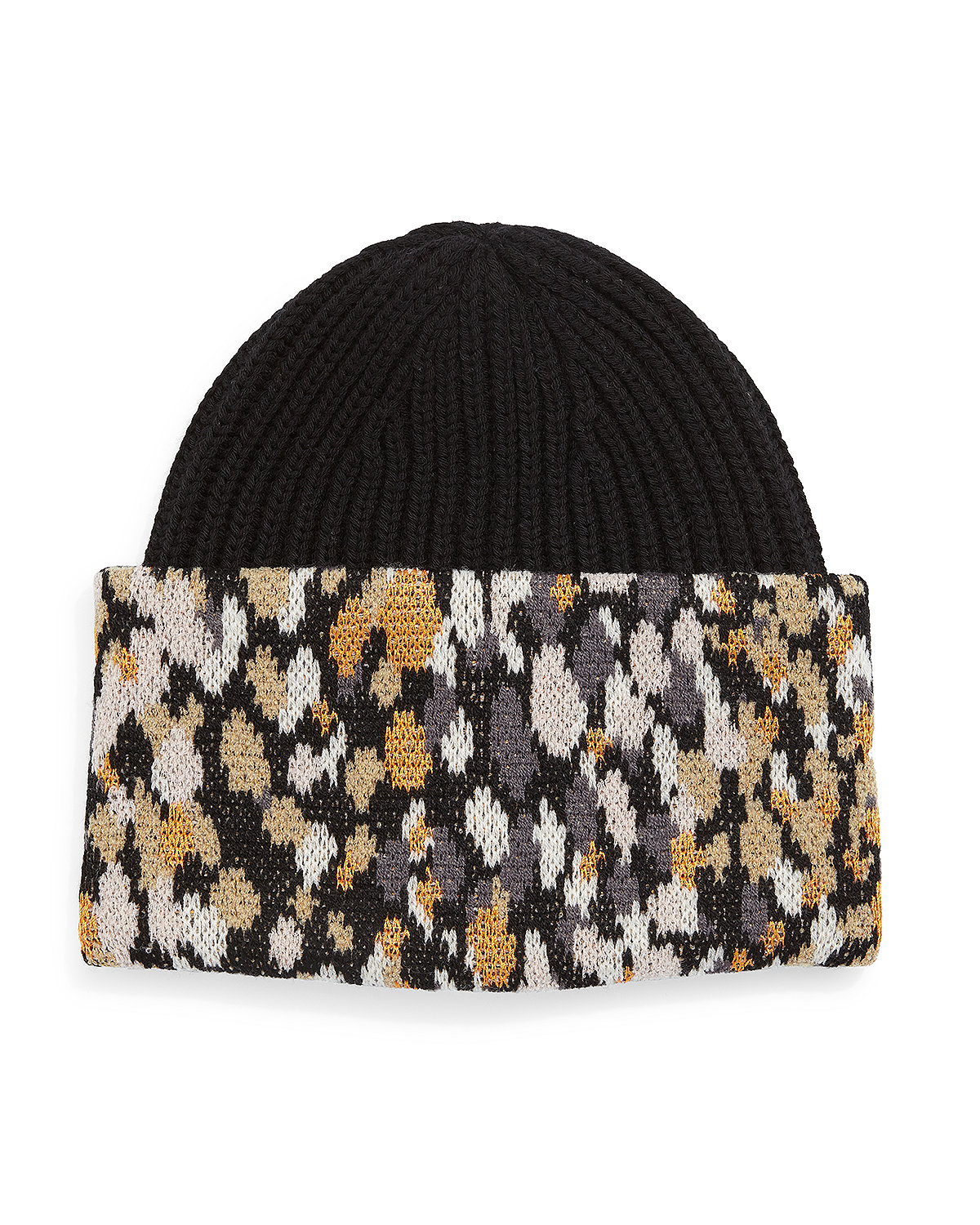 Knit Speckled-Cuff Hat