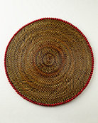 Calaisio Four Round Bead-Rimmed Placemats
