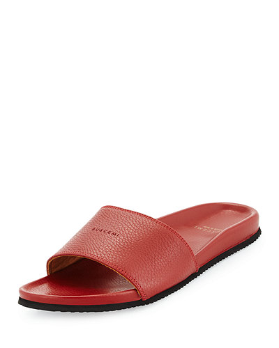 Buscemi Leather Slide Sandal