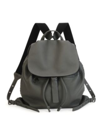 BOTTEGA VENETA Woven Leather Backpack in Gray