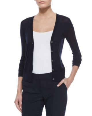 Theory Preen V-Neck Merino Cardigan & Edition Super