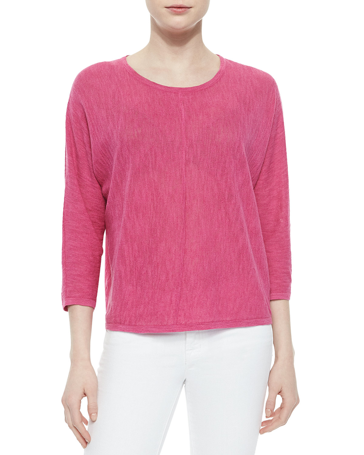 Dolman-Sleeve Pullover Sweater