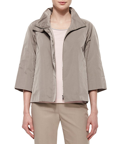 Lafayette 148 New York Zora 3/4-Sleeve Topper Jacket