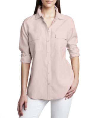 Go Silk Safari Long-Sleeve Silk Shirt & Silk
