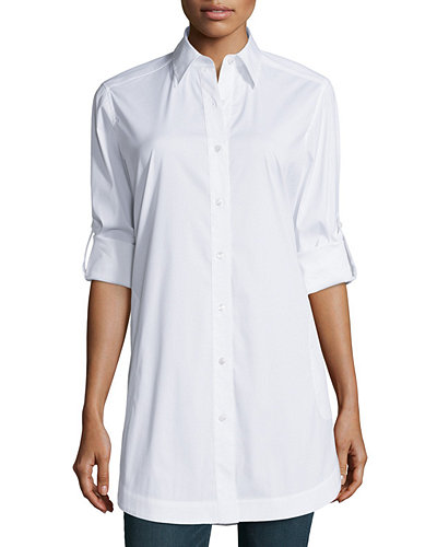 Lafayette 148 New York Stretch Cotton Jaycee Tunic