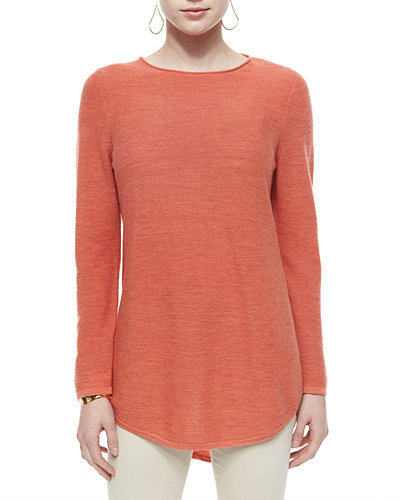 Long-Sleeve Merino Wool Tunic