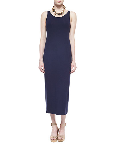 Sleeveless Jersey Long Dress