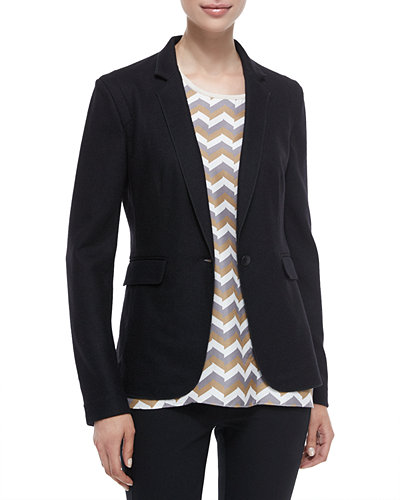 Long-Sleeve Wool Club Jacket