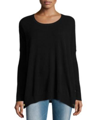 Image 1 of 3: Long-Sleeve Wool-Cashmere Tunic