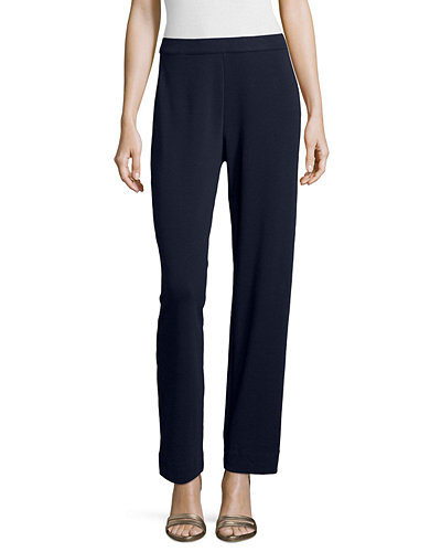 Joan Vass Interlock Jog Pants, Plus Size