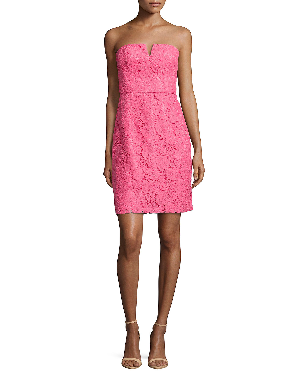 Quinn Strapless Lace Cocktail Dress