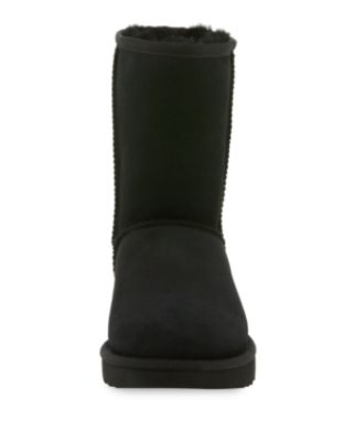 Women'S Classic Ii Genuine Shearling Lined Short Boots, Black Suede