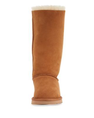 UGG BAILEY BOW TALL SHEARLING FUR BOOTS, CHESTNUT