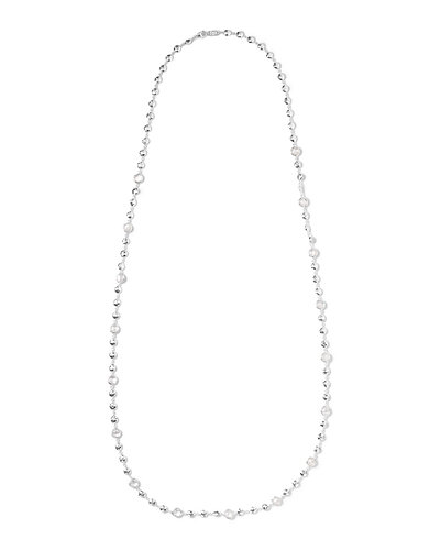 Silver Rock Candy Short Bead & Stone Necklace